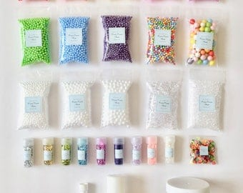 DIY Slime Making Materials Kit - 28 items (not including the slime recipe)