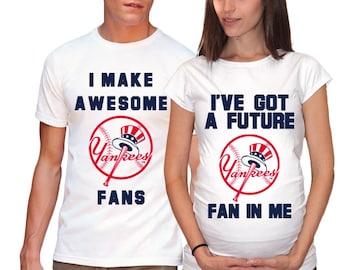 New York Yankees Baby New York Yankees Maternity Shirt Matching Shirts Baseball Funny Shirts for Couples Baby Shower