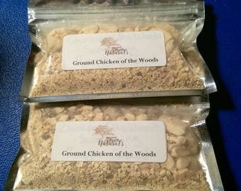 Ground Chicken of the Woods, 2 pack. Wild harvested, sustainable, organic, culinary mushroom, natural, pure.  Healthy and tasty