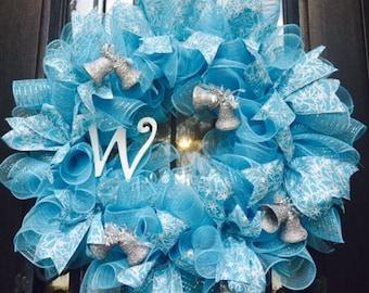 Christmas Wreath 18 inch w/initial