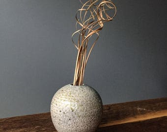 Soda Fired Bud Vase or Diffuser