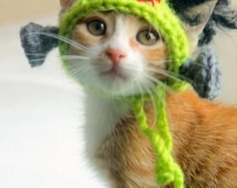 Frankenstein Cat Hat, Frankenstein Hat for Pets, Halloween Cat Hat, Halloween Hat for Cats, Cat Monster Hat, Frankenstein Hat for Small Dogs