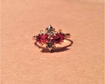 Gold Filled Rhinestone Ring