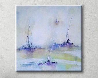 Pastel painting Blue painting Abstract landscape painting Abstract painting Abstract art Canvas art Wall art abstract Acrylic painting