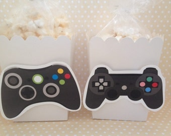 Video Games Party Popcorn or Favor Boxes - Set of 10