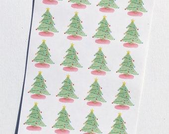 Christmas Tree Deco Stickers