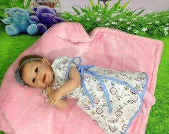 Comfy Wrap Dress, Size 0-3m, RTS