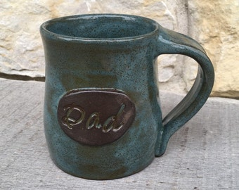 Dad mug, handmade personalized pottery mug