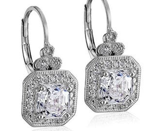 Platinum Gold Bridal Earrings, Swarovski Bridal Earrings, Drop Earrings, Bridesmaid Earrings, Wedding Jewelry, Bridal Jewelry, Prom Earrings