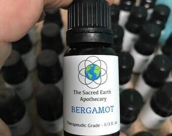 Bergamot Certified Organic Essential Oil Pure Therapeutic Grade - 10 ml