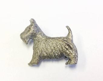 Cute, Art Deco, Scottie dog brooch.