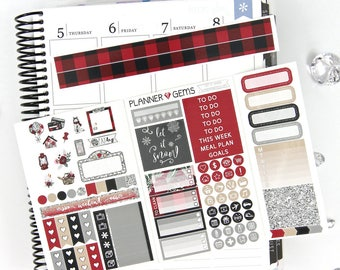 Let It Snow Pocket TN / Personal Weekly Planner Kit | ~100 Stickers | Planner Stickers | For TN / Personal Planners