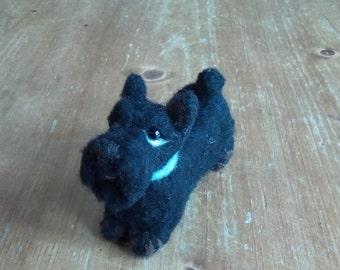 """Needle felted Scottish """"scottie"""" Terrier miniature"""