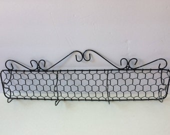 Vintage wire hat rack or towel rack