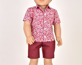 18 inch Boy Doll Clothes Shirt