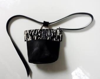 SKIN and leather belt bag