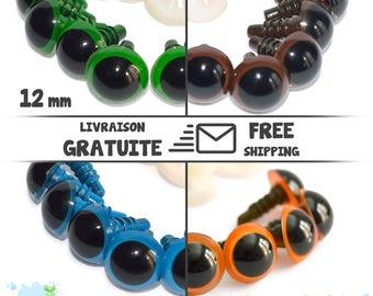 12mm Amigurumi Crochet - Safety Eyes - Yeux de sécurité - Occhi di sicurezza - Sicherheitsaugen - Ojos de seguridad