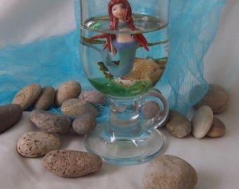 Mermaid Pool Floating Glass Sculpture