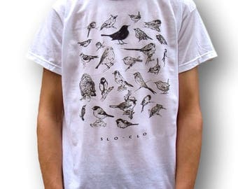 Men's Bird T-Shirt, Women's Bird T-Shirt, Bird Birthday Gift, Indie T Shirt, 90s Grunge T Shirt, Men's Indie Clothing, Bird Clothing, Sloclo