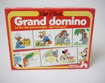 Big domino walt disney, nathan games, vintage games