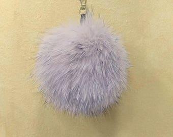 Fox Fur Pom Pom, Bag Pom Pom,Fur keychain F657