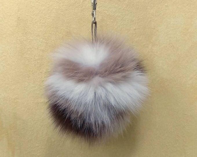 Fox Fur Pom Pom, Bag Pom Pom,Fur keychain F619