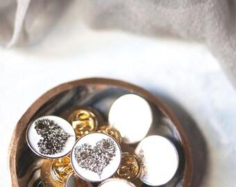 Flower Heart of Gold Soft Enamel Pin
