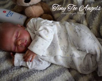Realborn Madison. Custom made to order newborn 19 inch reborn baby doll with full limbs