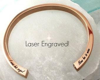 Engraved cremation bracelet / cremation urn jewelry / rose gold cremation urn bracelet / memorial  / pet cremation/ custom cremation urn