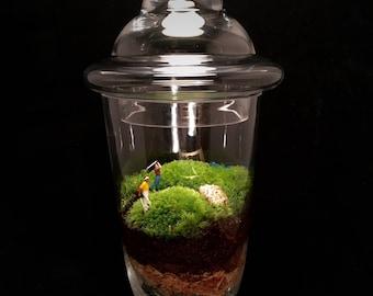 Golf Terrarium, Golf Course Terrarium, Moss Terrarium, Golf Gift, Gift for Dad, Golf Lover, Golf Course