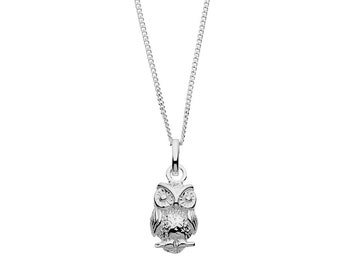 925 Silver Owl Necklace | Gifts for women