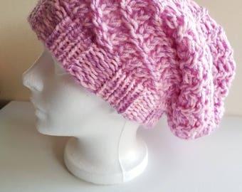 Slouchy Hat - Loom Hat - Winter Hat - Knitted Hats - Loom Knitted Hats - Loom Knit - Slouchy Beanie - Slouchy Beanie Women - Loom Knitting