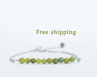 Girls peridot bracelet, August birthstone bracelet, Peridot bracelet women, Virgo bracelet, Virgo zodiac jewelry, Girls peridot jewelry
