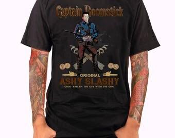 FREE U.S. SHIPPING   Captain Boomstick   Unisex/Ladies Fit T-shirt   Ash VS Evil Dead   Captain Morgan