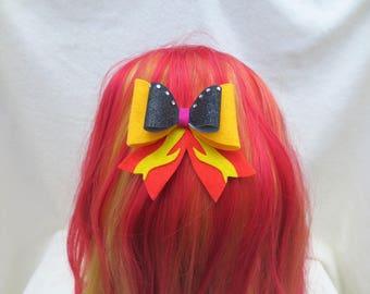 Sunset Shimmer Felt Hair Bow, Kawaii Cosplay, Lolita, My Little Pony Equestria Girls