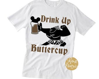 Drink Up Buttercup - Moana Inspired Magicaly Shirt - Epcot Food and Wine Festival