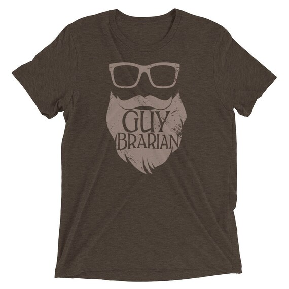 Guybrarian Librarian Beard Short Sleeve Premium Triblend T-shirt | Gift for Librarian | Beards make it better | Library Humor