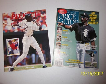 Beckett Baseball Card Monthly (April 1994) and Sports Card Price Guide (March 1995) with Michael Jordan on the covers