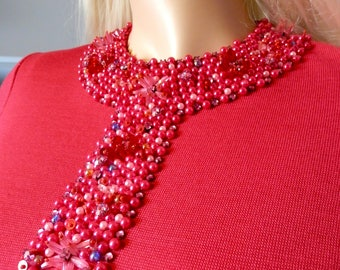 "Pretty Shocking Pink Original 1960's dress by ""Ma Cherie' - size small"