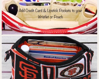 Add Credit Card Pockets To Made To Order Wristlet