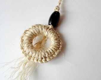 Cat toy natural sisal - Door knob, macrame, woven, sisal rope,  Super resistant, geometric, animalove