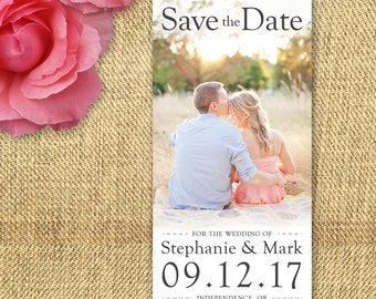 Save the Date card - 4x9in - Printable