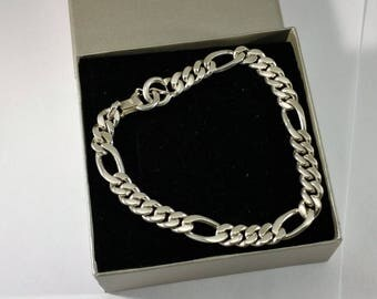 Massive bracelet Figaroarmband 950 silver SK361