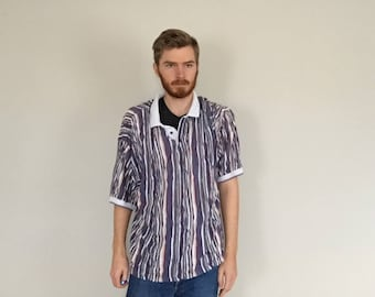 90s Cotton Traders Blue coogi-style Polo Shirt size 3XL ~ 45662