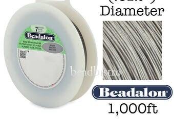 "BRIGHT 1,000ft - (.012"") Beadalon 7 Strand Stainless Steel FlexWire Gem & Bead Stringing Wire"