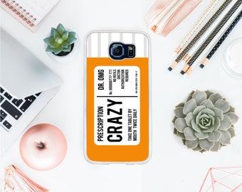 Valentines day Crazy pill phone case fits Samsung S8 prescription case nurse phone case / best friend gift / gift for her OT11
