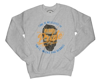 Beard sweatshirt beard pride hipster sweatshirt funny sweatshirt vintage sweatshirt mustache sweatshirt barber sweatshirt AP48