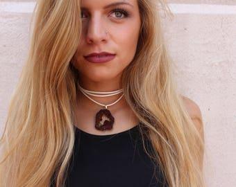 Magenta Drusy Versatile Necklace