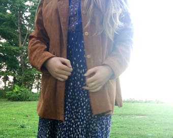 Vintage Leather Suede Barn Jacket by Coldwater Creek
