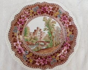 Delft Spode Warwick Castle Plate Copeland England Registered Numbered
